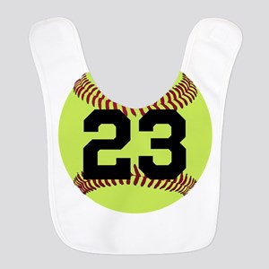 Softball Number Personalized Polyester Baby Bib