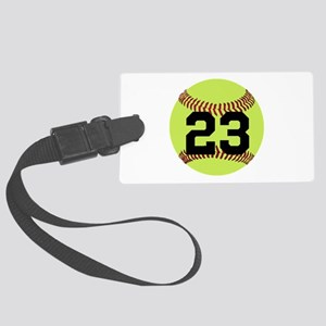 Softball Number Personalized Large Luggage Tag