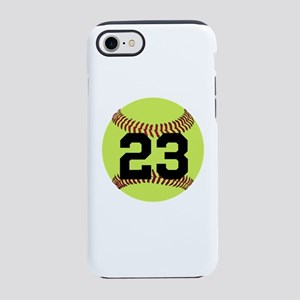 Softball Number Personalized iPhone 7 Tough Case