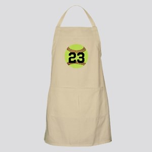 Softball Number Personalized Light Apron