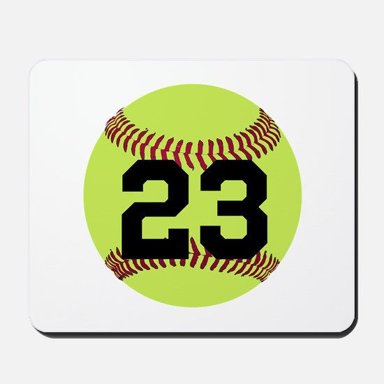 Softball Number Personalized Mousepad