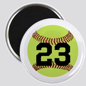 Softball Number Personalized Magnet