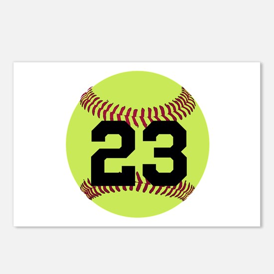 Softball Number Personali Postcards (Package of 8)