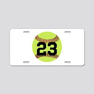 Softball Number Personalize Aluminum License Plate
