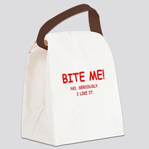 BITE ME Canvas Lunch Bag