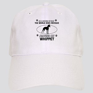 Whippet dog funny designs Cap