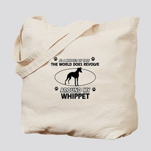 Whippet dog funny designs Tote Bag