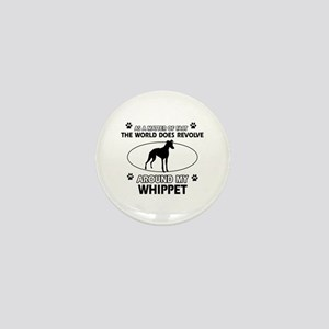 Whippet dog funny designs Mini Button