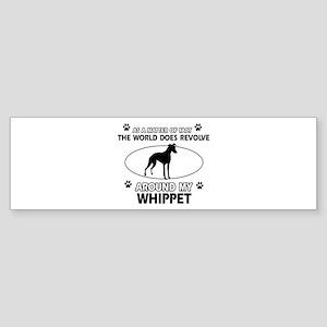 Whippet dog funny designs Sticker (Bumper)