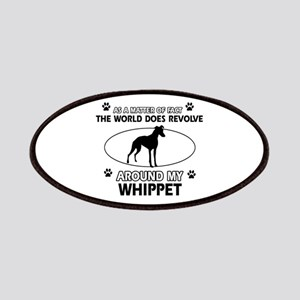 Whippet dog funny designs Patches