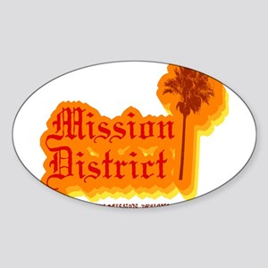 Mission District Oval Sticker