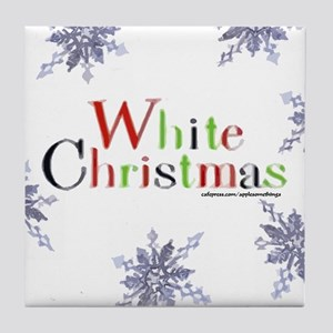 White Christmas Decorative Tile/Coaster