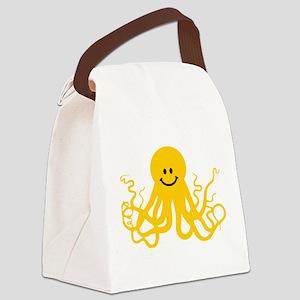 Octopus / Kraken Smiley Canvas Lunch Bag