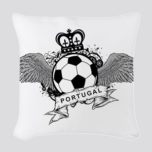 Portugal Football Woven Throw Pillow