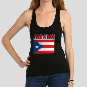 Puerto Rico Flag Racerback Tank Top