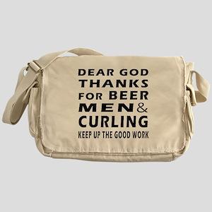 Beer Men and Curling Messenger Bag