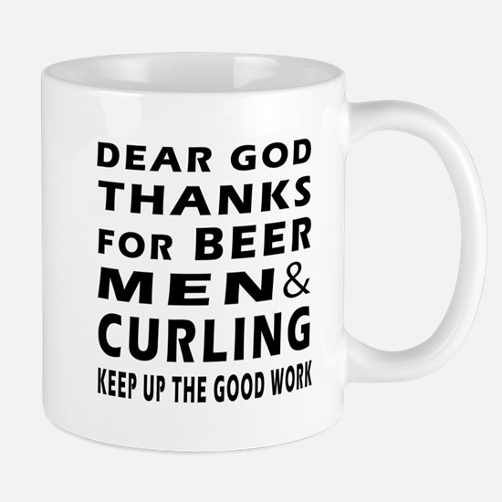 Beer Men and Curling Mug