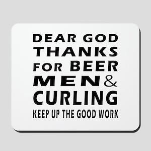 Beer Men and Curling Mousepad