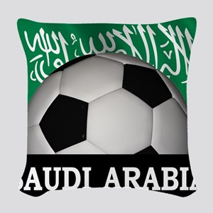 Football Saudi Arabia Woven Throw Pillow