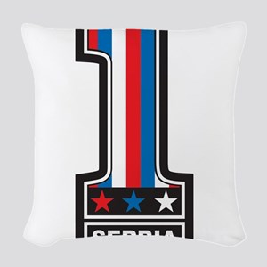 Number One Serbia Woven Throw Pillow