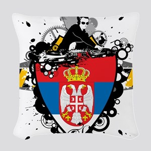 Hip Serbia Woven Throw Pillow