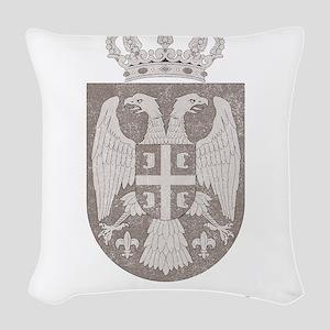 Vintage Serbia Woven Throw Pillow