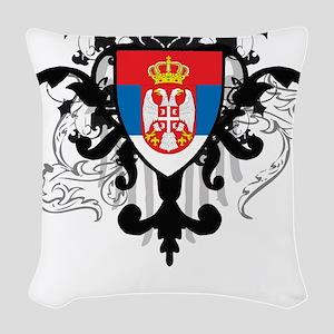 Stylish Serbia Woven Throw Pillow