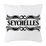 Tribal Seychelles Woven Throw Pillow