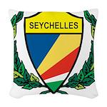 Stylized Seychelles Woven Throw Pillow