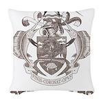 Vintage Seychelles Woven Throw Pillow