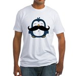 Mustache Penguin Trend Fitted T-Shirt