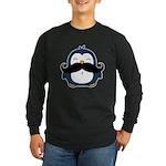 Mustache Penguin Trend Long Sleeve Dark T-Shirt