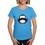 Mustache Penguin Trend Women's Dark T-Shirt