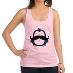 Mustache Penguin Trend Racerback Tank Top