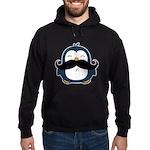 Mustache Penguin Trend Hoodie (dark)