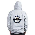 Mustache Penguin Trend Zip Hoodie