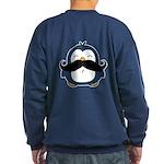 Mustache Penguin Trend Sweatshirt (dark)