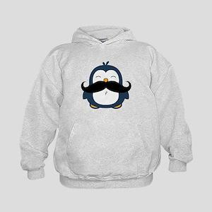 Mustache Penguin Trend Kids Hoodie