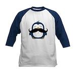 Mustache Penguin Trend Kids Baseball Jersey