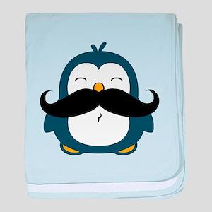 Mustache Penguin Trend baby blanket