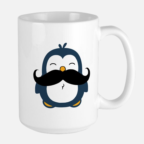 Mustache Penguin Trend Large Mug