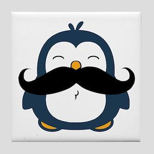 Mustache Penguin Trend Tile Coaster