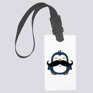 Mustache Penguin Trend Large Luggage Tag