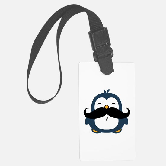 Mustache Penguin Trend Luggage Tag