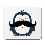 Mustache Penguin Trend Mousepad