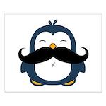 Mustache Penguin Trend Small Poster