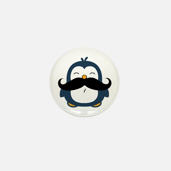 Mustache Penguin Trend Mini Button