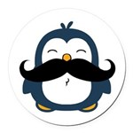 Mustache Penguin Trend Round Car Magnet