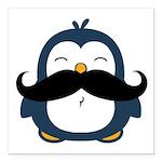 Mustache Penguin Trend Square Car Magnet 3