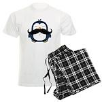 Mustache Penguin Trend Men's Light Pajamas